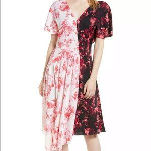 NWT Lewit silk asymmetrical dress